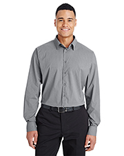 Devon & Jones DG535 CrownLux Performance Men 2.9 oz Tonal Mini Check Shirt at GotApparel