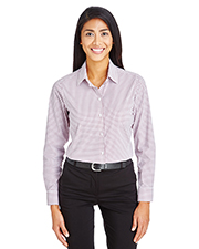 Devon & Jones DG540W CrownLux Performance Ladies 2.9 oz Micro Windowpane Shirt at GotApparel