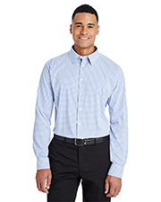 Devon & Jones DG540 CrownLux Performance Men 2.9 oz Micro Windowpane Shirt at GotApparel