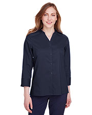 Devon & Jones DG560W women Crown Collection Stretch Broadcloth 3/4 Sleeve Blouse at GotApparel