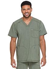 Dickies Medical DK695 Men V-Neck 3 Pocket Top at GotApparel