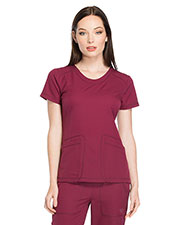 Dickies Medical DK720 Women Rounded V-Neck Top at GotApparel