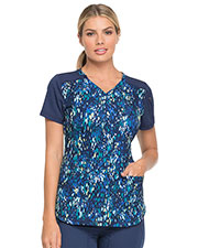Dickies Medical DK732 Women V-Neck Top at GotApparel