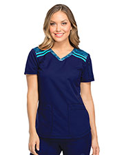 Dickies Medical DK740 Women V-Neck Top at GotApparel