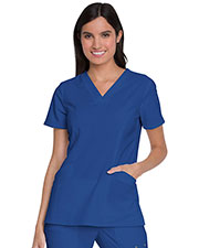 Dickies Medical DK755 Women V-Neck Top With Patch Pockets at GotApparel