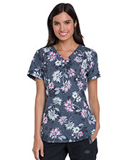 Dickies Medical DK766 Women V-Neck Top at GotApparel