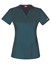 Dickies Medical DK800 Unisex V-Neck Top at GotApparel