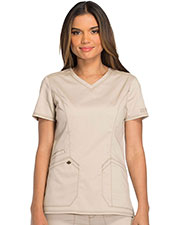 Dickies Medical DK803 Women V-Neck Top at GotApparel