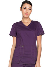 Dickies Medical DK804 Women Mock Wrap Top at GotApparel