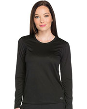 Dickies Medical DK900 Women Long Sleeve Underscrub Knit Tee at GotApparel