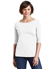 District Made DM107L Women's Perfect Weight 3/4-Sleeve Tee at GotApparel