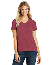 District Made DM1190L Women Perfect Blend V-Neck Tee at GotApparel