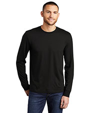 District Made DM132 Men Perfect Tri Long Sleeve Crew Tee  at GotApparel