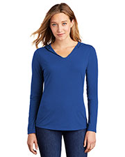 District Made DM139L Women   Perfect Tri  Long-Sleeve Hoodie at GotApparel