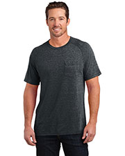 District Made DM340 Men Tri-Blend Pocket Tee at GotApparel