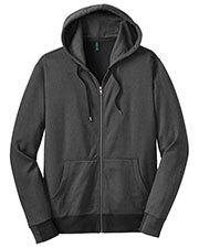District Made DM390 Men  Mini Stripe Full Zip Hoodie at GotApparel