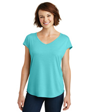 District Made DM416  ® Ladies Drapey Cross-Back Tee. . at GotApparel