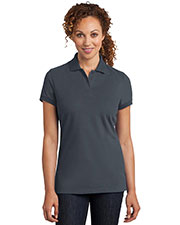 District Made DM425 Women Stretch Pique Polo at GotApparel