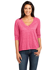 District Made DM462 Women  Microburn V-Neck Raglan Tee at GotApparel