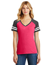 District Made DM476 Women's Game V-Neck Tee at GotApparel