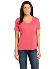 District Made DM480 Women  Modal Blend Relaxed V-Neck Tee at GotApparel