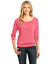 District Made DM482 Women  Modal Blend 3/4-Sleeve Raglan at GotApparel