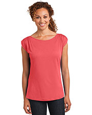 District Made DM483 Women Modal Blend Gathered Shoulder Tee at GotApparel