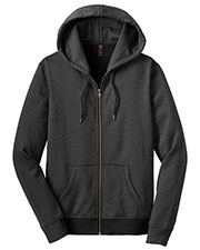 District Made DM490 Women  Mini Stripe Full Zip Hoodie at GotApparel