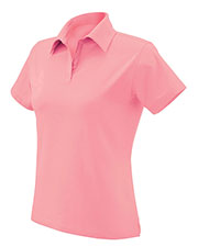 Devon & Jones Pink DP305W Women Jersey Polo at GotApparel