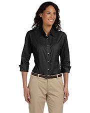 Ladies' Perfect Fit™ Three-Quarter Sleeve Stretch Poplin Blouse at GotApparel