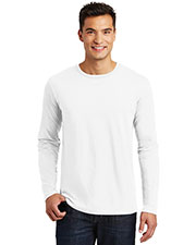 District Made DT105 Men Perfect Weight Long-Sleeve Tee at GotApparel