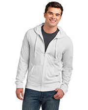 District DT1100 Men Lightweight Jersey Full Zip Hoodie at GotApparel