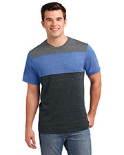 District DT143 Men Tri blend Pieced Crewneck Tee at GotApparel