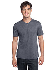District DT172 Men Textured Notch Crew Tee at GotApparel