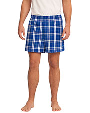 District DT1801 Men Flannel Plaid Boxer at GotApparel