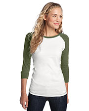 District DT226 Women Threads 3/4-Sleeve Perfect Weight Raglan Tee at GotApparel