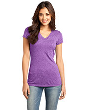 District DT261 Women Microburn V-Neck Tee at GotApparel