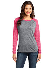 District DT262 Women Microburn Long Sleeve Raglan Tee at GotApparel