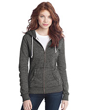 District DT292 Women Marled Fleece Full Zip Hoodie at GotApparel
