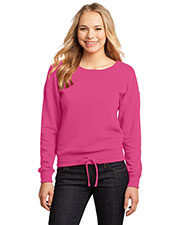 District DT293 Women Core Fleece Wide Neck Pullover at GotApparel
