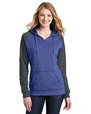 District DT296 Women's Lightweight Fleece Raglan Hoodie at GotApparel
