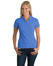 District DT301 Women Threads Original Stretch Pique Polo at GotApparel