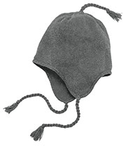 District DT604 Men Knit Hat with Ear Flaps at GotApparel