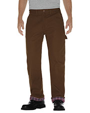 Dickies DU217 Men Relaxed Straight-Fit Flannel-Lined Carpenter Duck Jean Pant at GotApparel