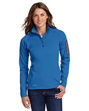 Custom Embroidered Eddie Bauer EB235 Ladies 12.8 oz 1/2-Zip Performance Fleece at GotApparel