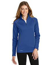 Custom Embroidered Eddie Bauer EB237 Ladies 9.3 oz 1/2-Zip Base Layer Fleece at GotApparel