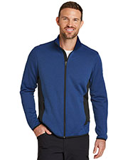 Custom Embroidered Eddie Bauer EB238 Men 13 oz. Full-Zip Heather Stretch Fleece Jacket at GotApparel