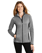 Custom Embroidered Eddie Bauer EB239 Ladies 13 oz. Full-Zip Heather Stretch Fleece Jacket at GotApparel