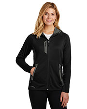 Custom Embroidered Eddie Bauer EB245 Ladies 12.8 oz Sport Hooded Full-Zip Fleece Jacket at GotApparel