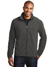 Port Authority F235  ®  Heather Microfleece Full-Zip Jacket. at GotApparel